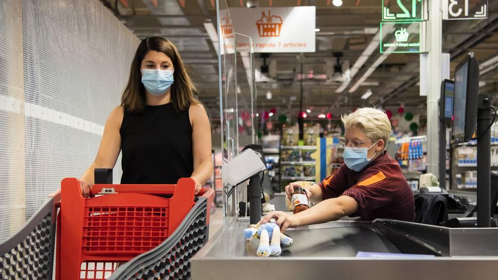 Du kannst in der Zentralschweiz weiterhin ohne Maske einkaufen