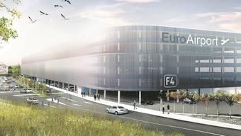 In gut zwei Jahren soll das neue Parkhaus mit 2500 Plätzen nördlich des Terminals fertig sein.