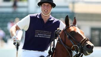 Sorgte für Aufsehen: Prinz William beim Polo