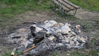 Die Leiche lag in einer Feuerstelle (Symbolbild)