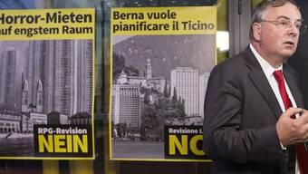 Jean-François Rime warnte in Bern vor den Folgen des revidierten Raumplanungsgesetzes