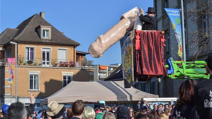 Die Penis-Kanone der 34er-Höckler aus Ennetbaden hat 2014 für Aufsehen und Gesprächsstoff gesorgt.Mathias Marx/Archiv az