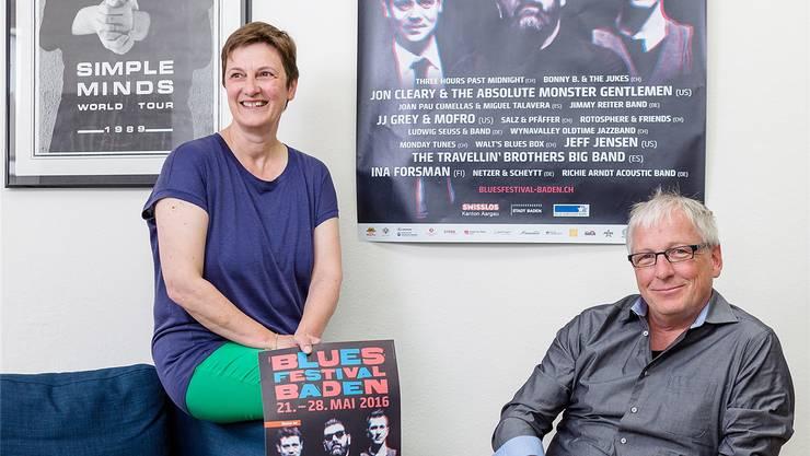 Susanne Slavicek und Hans Peter Brunner wollen mit dem Bluesfestival auch jungen Musikern eine Plattform bieten. Sandra Ardizzone