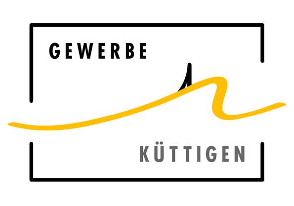 """Das neue Vereins - Logo ziert den """"Küttiger Anzeiger""""  und die neuen Stand-Fahnen und begleitet den Verein durchs Jubiläumsjahr 2019/2020 in die belebte Zukunft."""