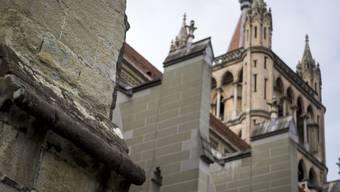 """""""Sandstein altert schlecht"""", sagt Staatsrat Pascal Broulis."""