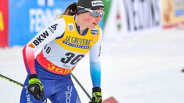 Bestes Resultat in dieser Saison: Nathalie von Siebenthal lief in Toblach auf den 8. Rang