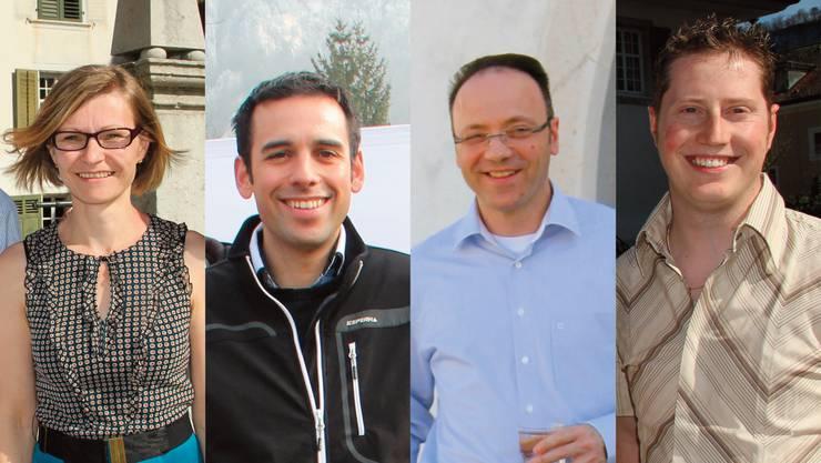 Ein tolles Team (vlnr): Ursula Ackermann (gewählt, 843 Stimmen), Ronnie Gertsch (656 Stimmen), Pierino Menna (gewählt, 814 Stimmen), Philippe Ebener (gewählt, 762 Stimmen).