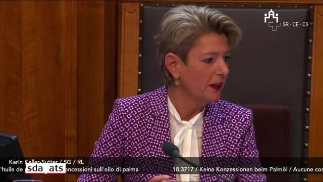 Karin Keller Sutter würdigt Johann Schneider-Ammann im Ständerat