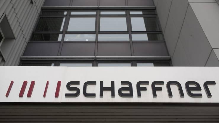 Das Logo von Schaffner beim Firmensitz in Luterbach