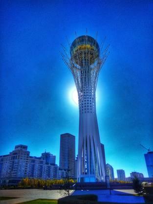 Der Bajterek-Tower in der kasachischen Hauptstadt Astana.