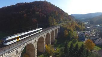 Das Läufelfingerli über dem Viadukt in Rümlingen. (Archiv)