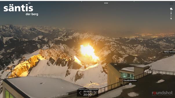 Mysteriöse Flammen beim Säntis – das steckt dahinter