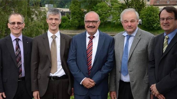 Die Avag-Verwaltungsräte Fredy Dubach, Martin Eschle, Kurt Henzmann, Christian Wanner und Dieter Leu (v.l.).