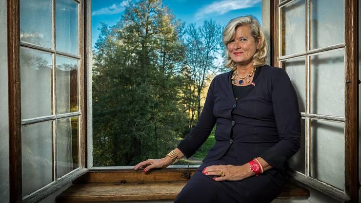 Ursula Plassnik, die österreichische Botschafterin in Frankreich zu Besuch im Schloss Hallwyl.