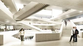 So soll der FHNW-Neubau in Muttenz mal aussehen