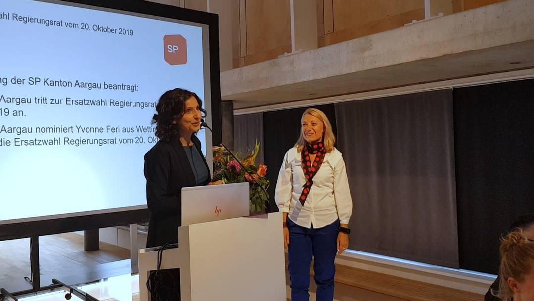 Aargauer SP schickt Yvonne Feri ins Regierungsratsrennen