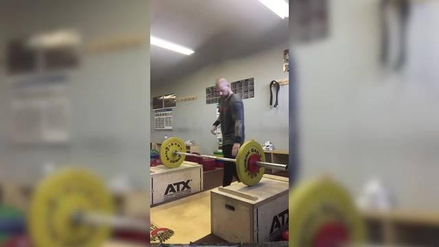 Gewichtheber Michel Fink im Training