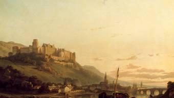 Heidelberg mit Schloss und Neckar-Brücke: Die Stadt inspirierte Hölderlin zu einem seiner schänsten Gedichte.
