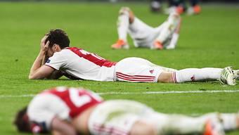 Aus dem Traum wurde ein Albtraum: Die Ajax-Spieler nach dem späten Gegentor