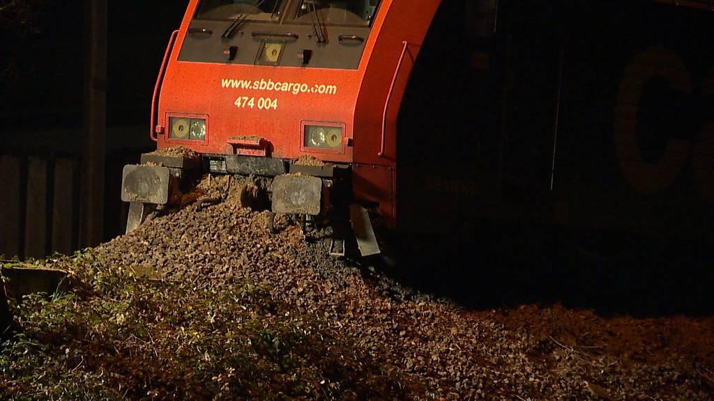 SBB-Cargo-Zug in Rheinfelden (AG) entgleist