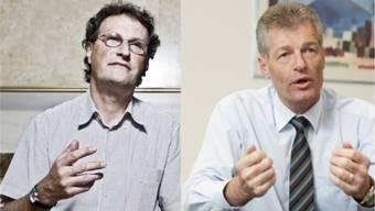 Geri Müller und Heinz Karrer