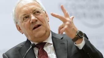 Bundespräsident Johann Schneider-Ammann setzte sich am WEF für die volle Teilnahme der Schweiz am EU-Forschungsprogramm Horizon 2020 ein.