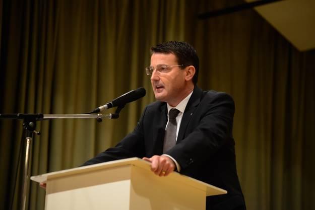 SVP-Parteipräsident Thomas Burgherr spricht sich für ein Nein zur Ecopop-Initiative aus.