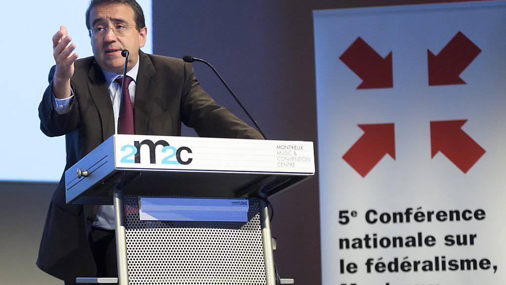 Der Waadtländer Regierungsrat Pascal Broulis (FDP) betonte in Montreux die Bedeutung des Föderalismus für die Schweiz.