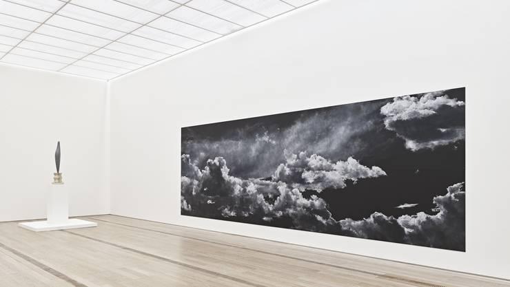 Installationsansicht «Stilles Sehen – Bilder der Ruhe» in der Fondation Beyeler, Riehen/Basel, 2020. Fotos: Mark Niedermann