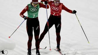 Nadine Fähndrich (links) und Laurien van der Graaff laufen auch in Drammen auf den Klassisch-Ski (Archivaufnahme)