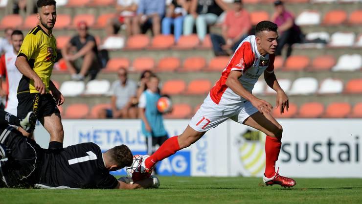 Der FC Solothurn um Furkan Tan konnte den gegnerischen Torwart zwar überwinden - das Spiel ging gleichwohl verloren.