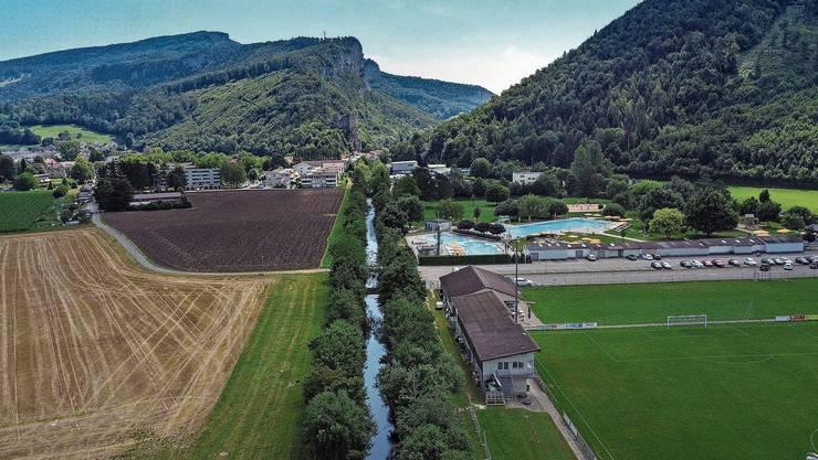 Auch in Balsthal machte der Mensch die Dünnern zu einem talabwärts «schleichenden» Fluss.