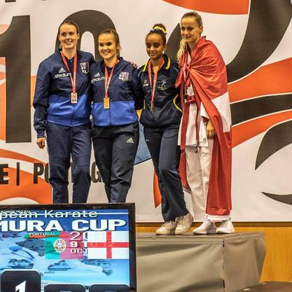 Saskia Merkli gewinnt in der Elite Frauen Mittelgewicht die Bronzemedaille