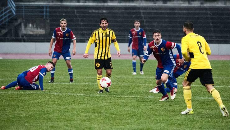 BSC Old Boys gegen die U21 des FC Basel auf der Schützenmatte. Roland Schmid