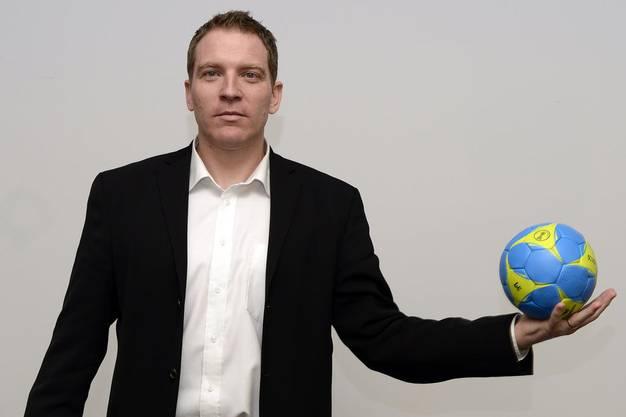 Michael Suter bei seiner Vorstellung im Frühling 2016 als neuer Nationaltrainer der Schweizer Handballer