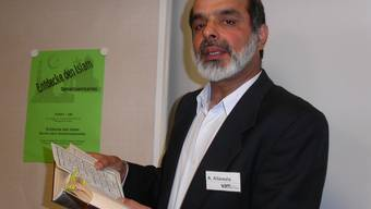 Abdul Malik Allawala, Sprecher des Verbandes Aargauer Muslime.
