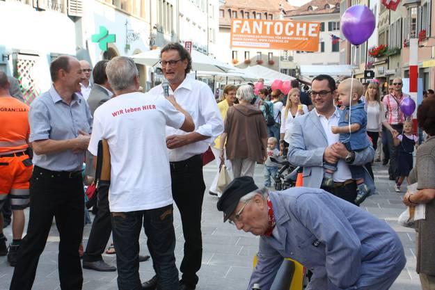 Stadtammann Geri Müller hielt die Eröffnungsrede