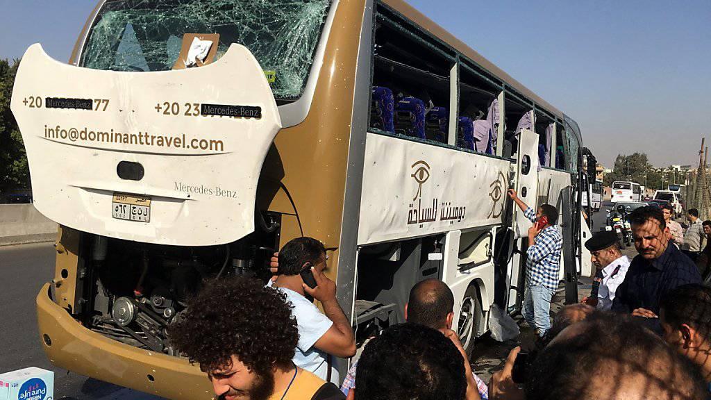 Bei der Explosion in der Nähe von Gizeh wurden mehrere Menschen verletzt.
