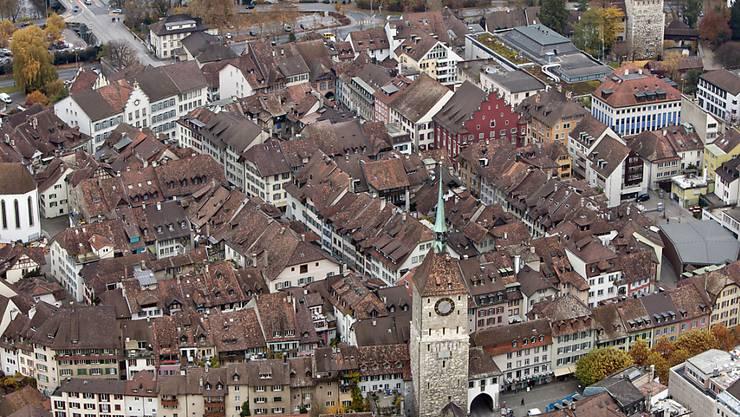 Aarau soll mit den Nachbargemeinden fusionieren - und als Kantonshauptstadt mehr Bedeutung gewinnen.  (Archivbild)
