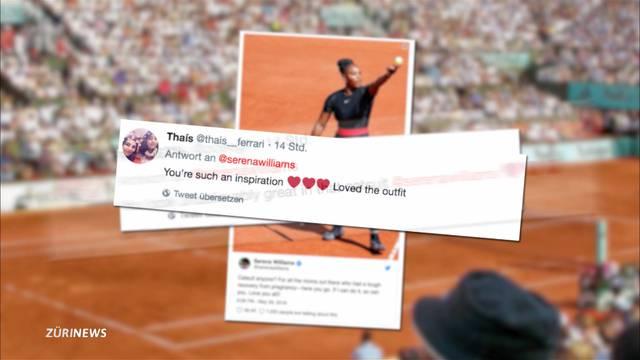 Serena Williams präsentiert sich im Catsuit