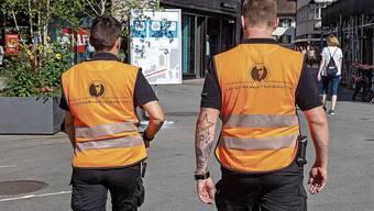 Seit August in Olten unterwegs: Patrouillen der Firma LU-Sicherheitsdienst AG.