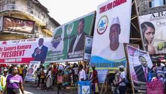 Wahlwerbung in den Strassen von Freetown, der Hauptstadt von Sierra Leone. (Archiv)