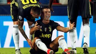 Ronaldo sieht Rot nach einer angeblichen Tätlichkeit.