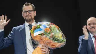 """Der neue Zürcher Kantonsratspräsident Roman Schmid (SVP) ist mit 35 Jahren wohl der jüngste """"höchste Zürcher"""" seit Alfred Escher."""