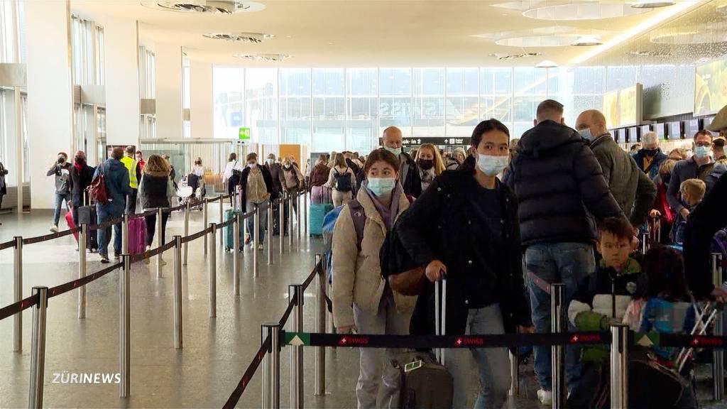 68'000 Passagiere: Herbstferien-Grossandrang am Flughafen Zürich