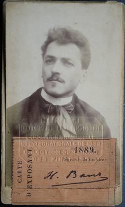 Heinrich Baur im Jahre 1889.