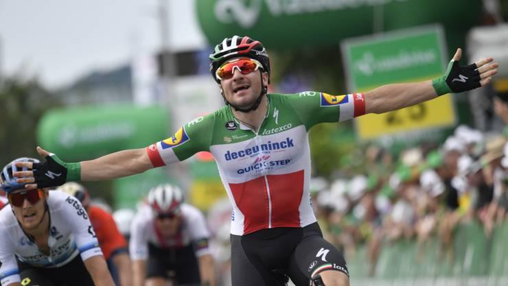 Elia Viviani gewann die 4. Etappe der Tour de Suisse über 164 km von Murten nach Arlesheim.