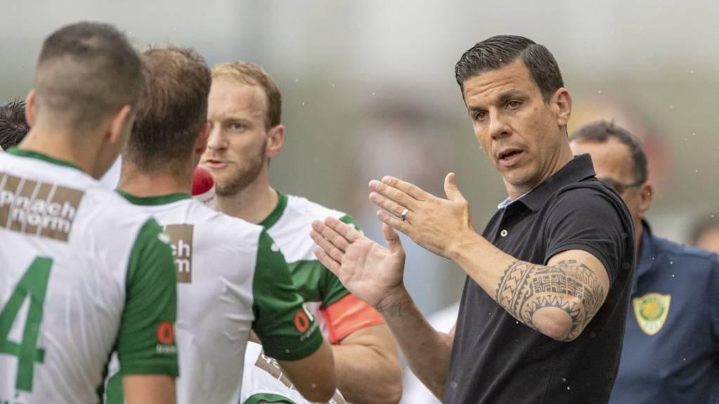 Trainer Bruno Berner und sein SC Kriens kamen in Wil zu drei wichtigen Punkten im Abstiegskampf. (Archivbild)