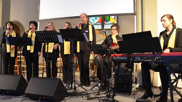Für den ersten kantonalen Singtag in Oberentfelden wurde eigens eine Band zusammengestellt.