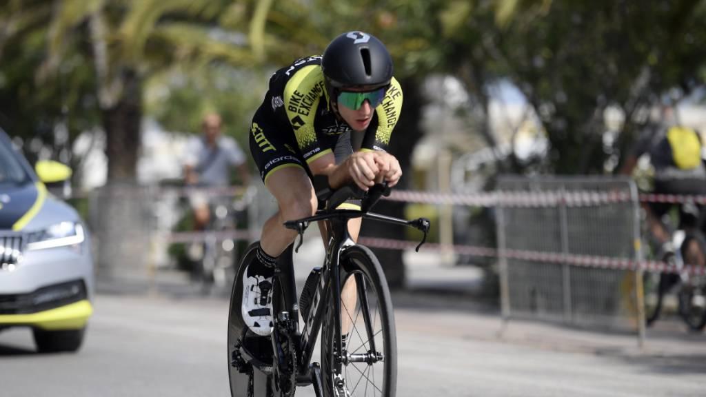 Simon Yates verteidigt auf dem Zeitfahr-Rad seinen Vorsprung und kürt sich zum Gesamtsieger am Tirreno-Adriatico